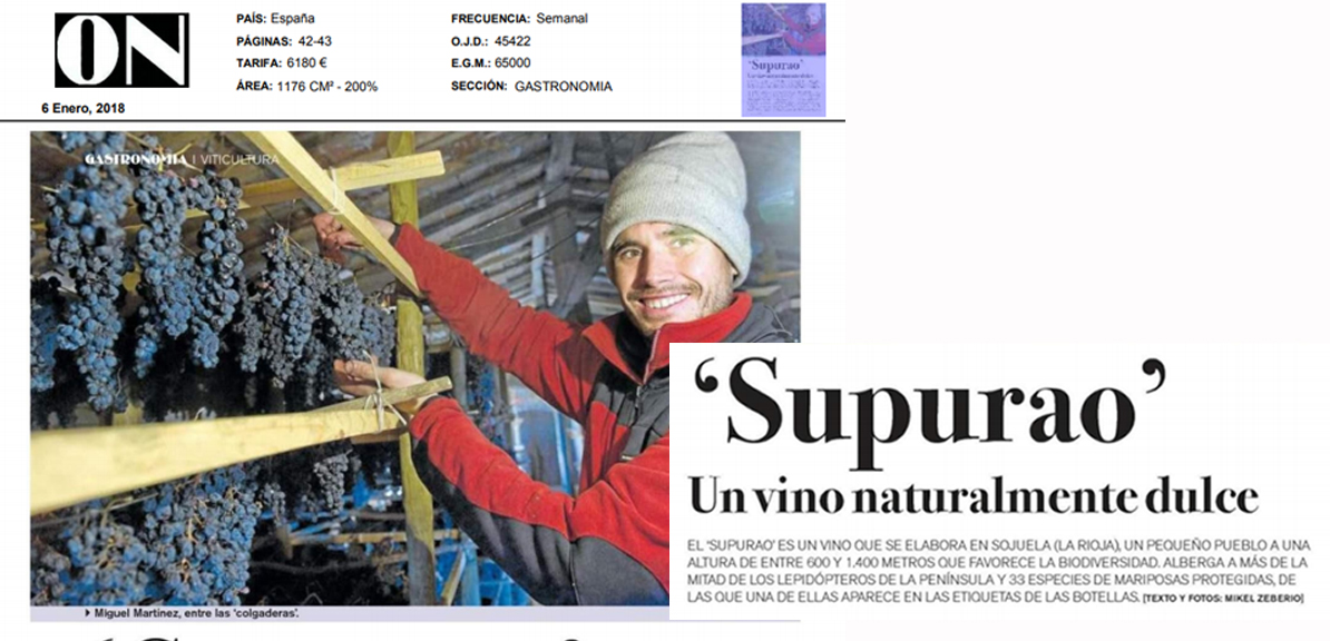 «Supurao» Un vino naturalmente dulce. Revista ON