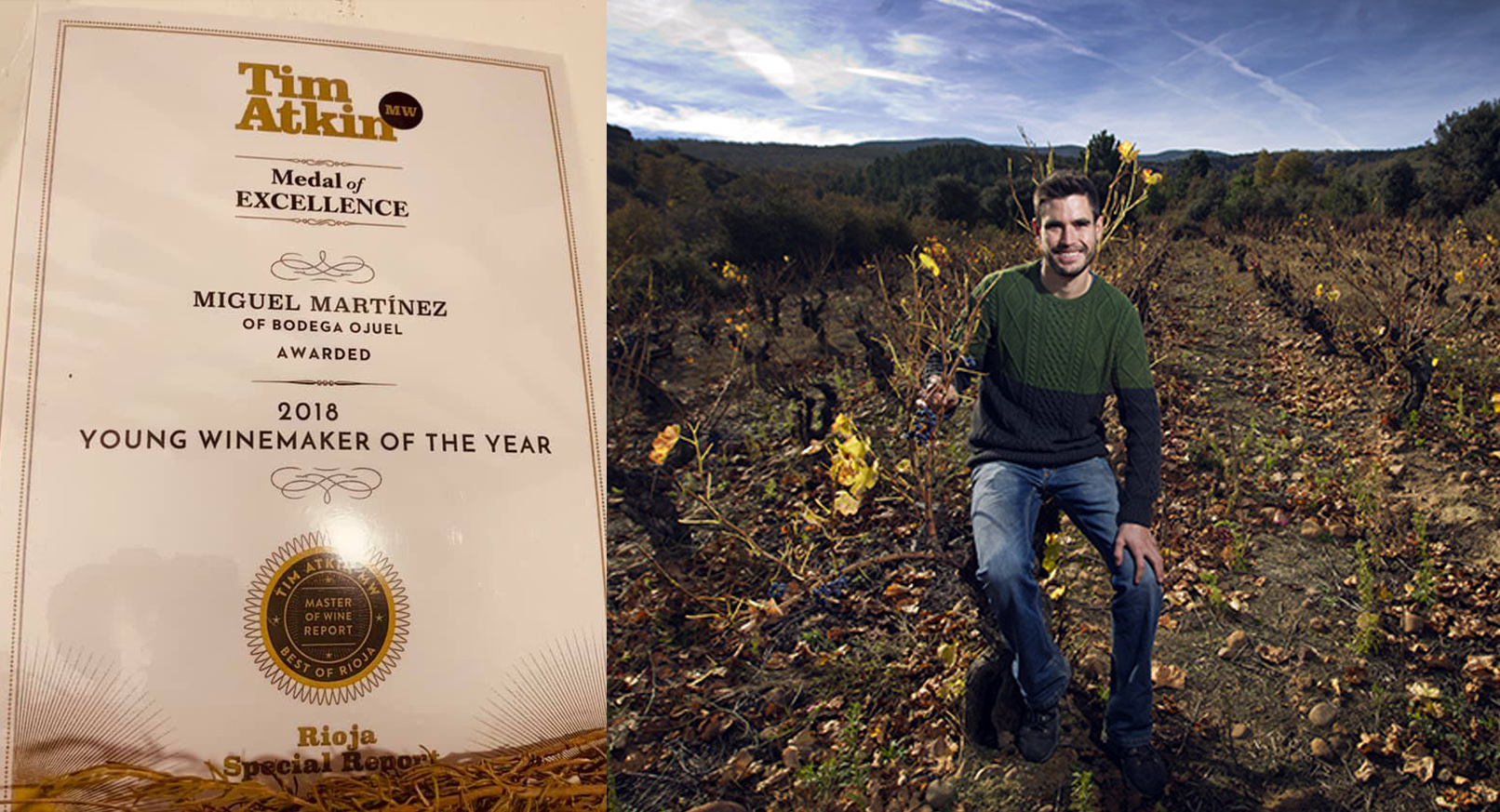 Winemaker of the Year 2018. Tim Atkim Rioja Report